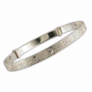 Sterling silver Maidens expanding Celtic Bangle